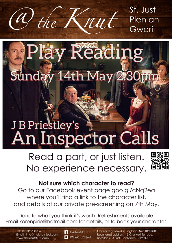 Play reading poster - An Inpector Calls